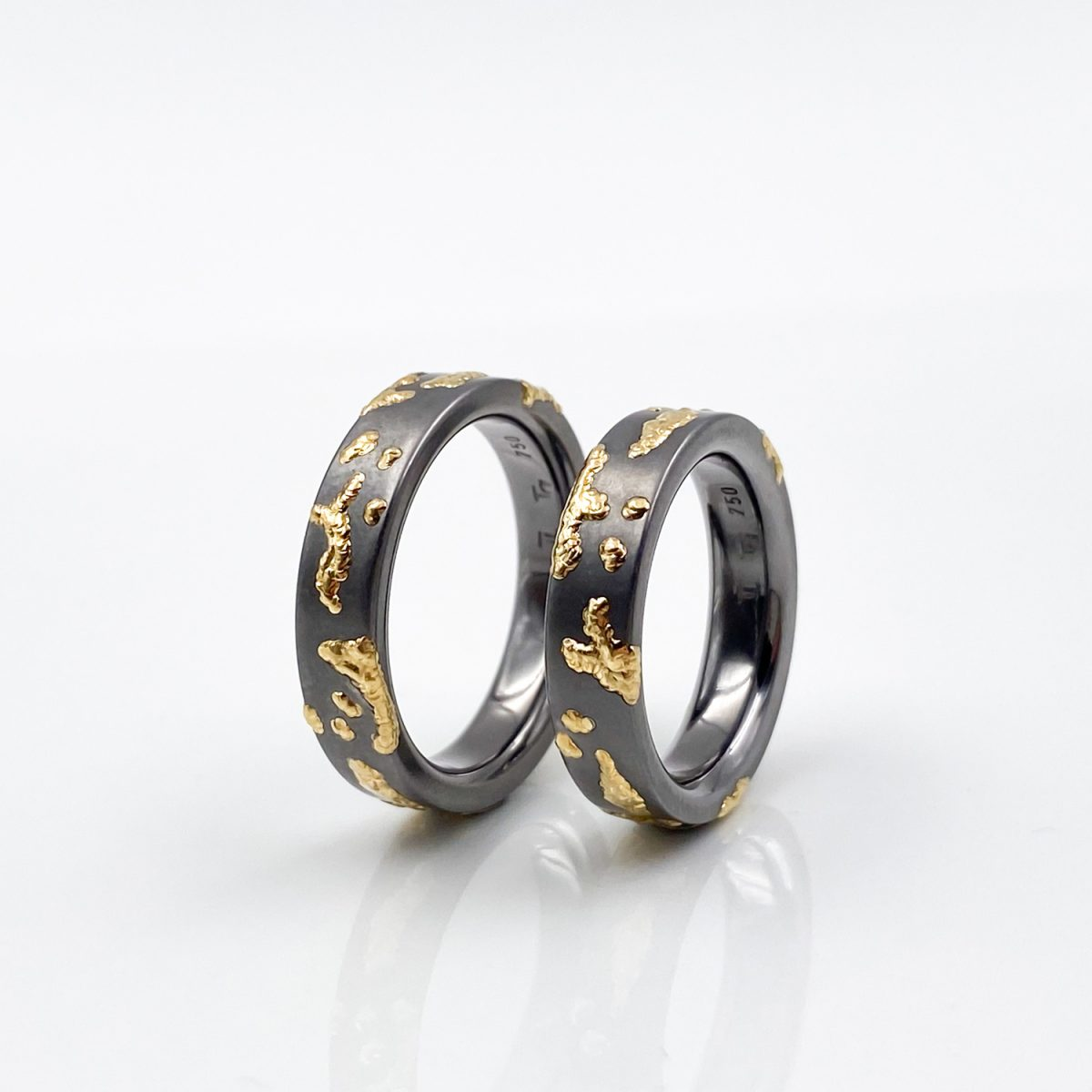 Tantal Ringpaar Tantalum Ringe True Love Collection No.23