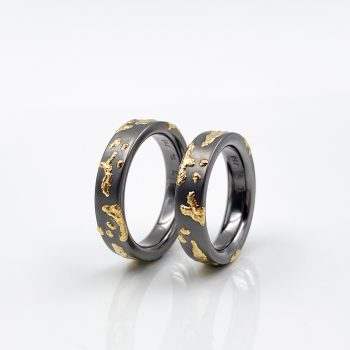 Tantal Ringpaar Tantalum Ringe True Love Collection No.23