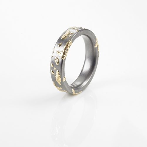 "TANTAL RING HEAVY METAL COLLECTION ""GOLDSPLASH"""