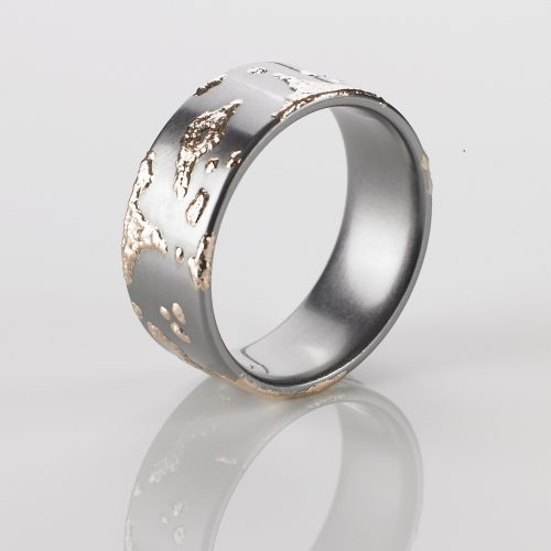 "TANTAL RING HEAVY METAL COLLECTION ""Rosegold - Splash"""