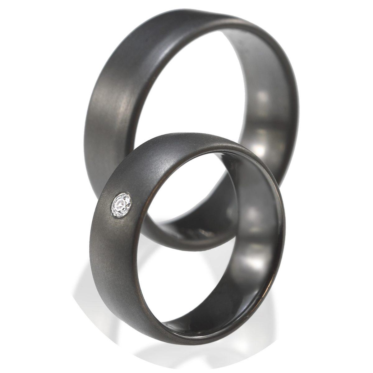 Tantal Eheringe | Ringpaar True Love Collection No:7