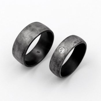 Tantal Hochzeitsringe | Eheringe | Ringpaar True Love Collection No:29