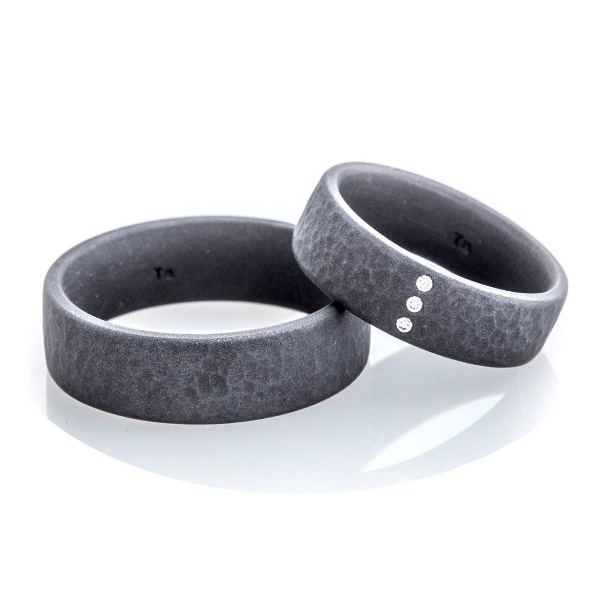 Tantal Hochzeitsringe | Ringpaar True Love Collection No:11