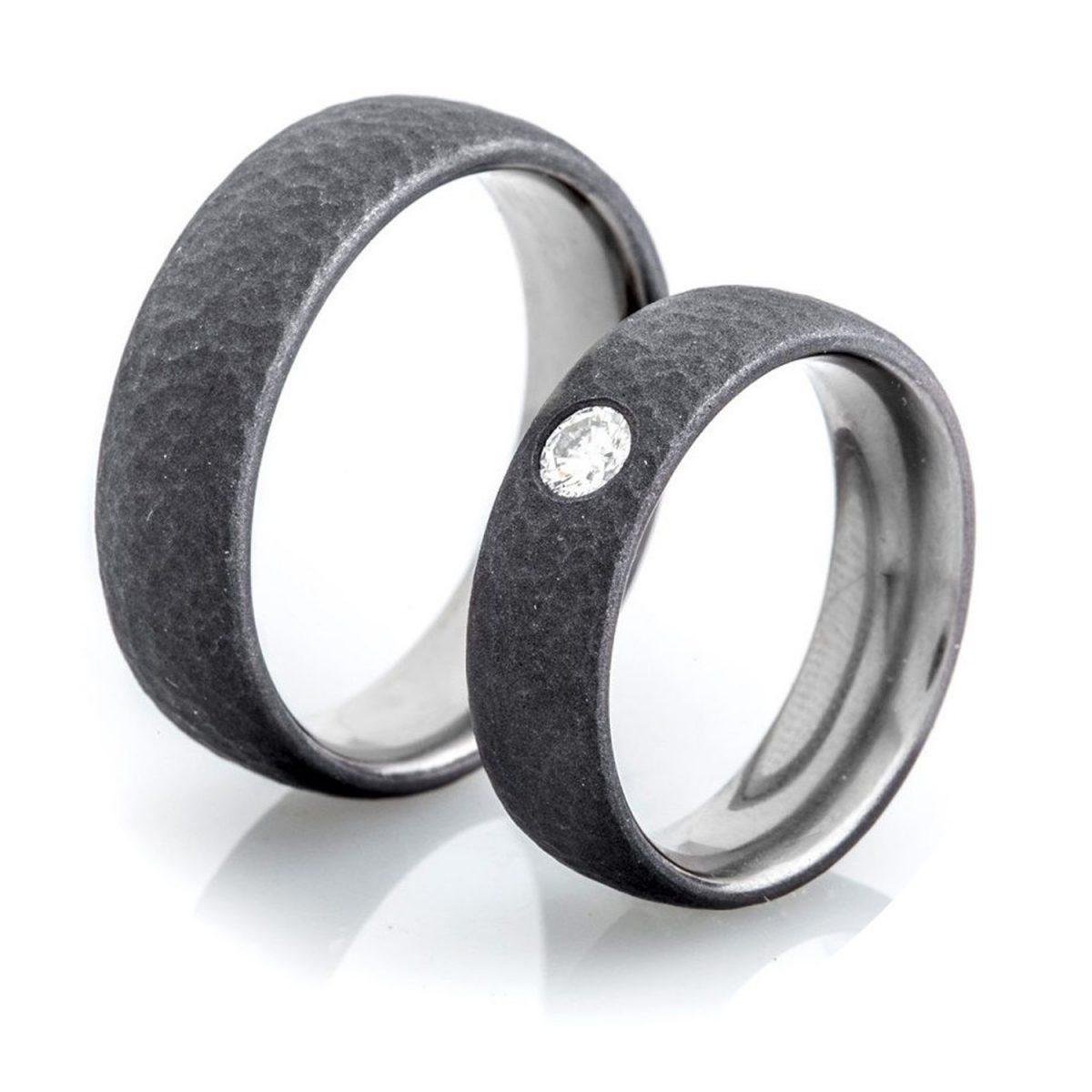 Tantal Paarringe   Ringpaar True Love Collection No:12