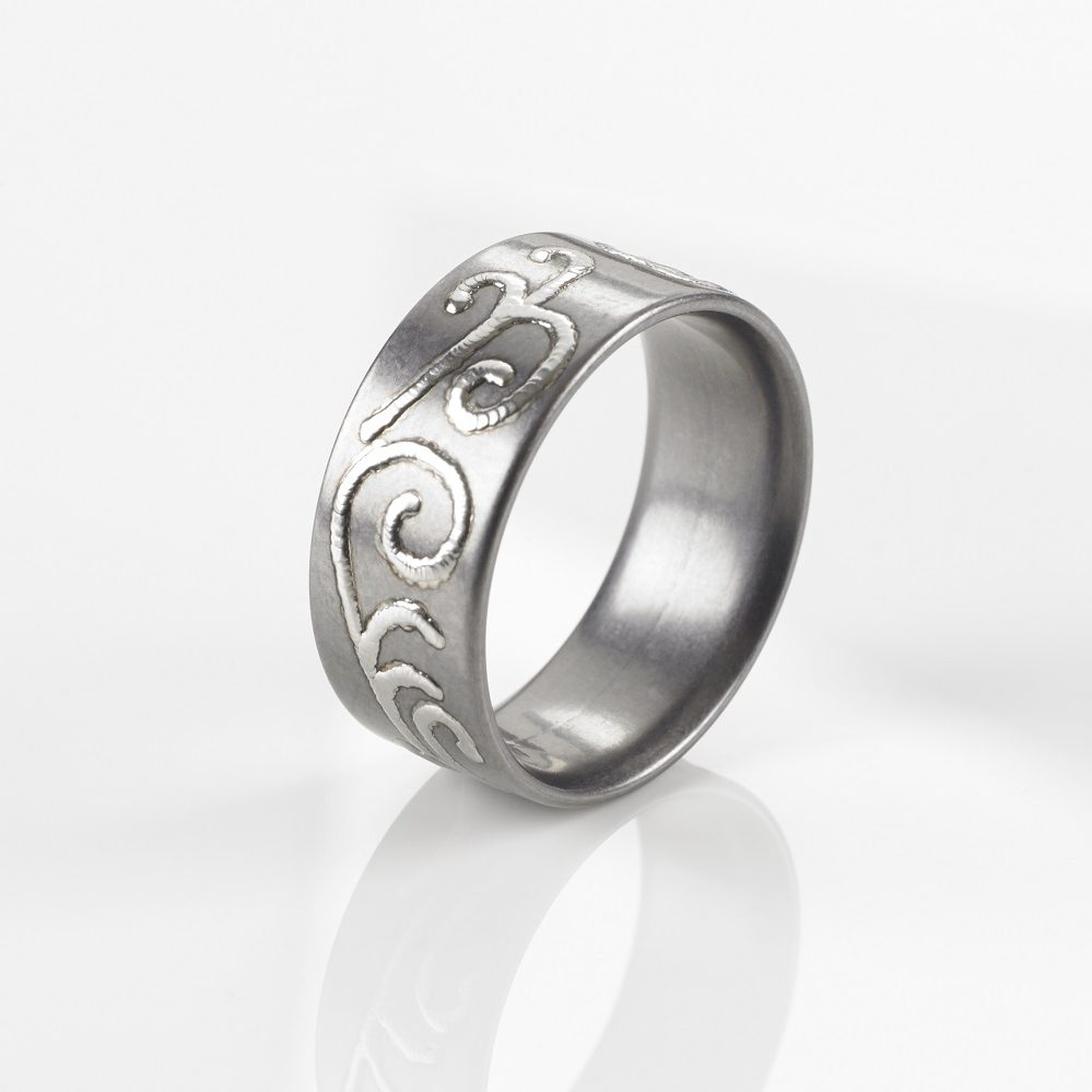 "Tantal Ring Unisex Heavy Metal Collection No.04 ""TitanLovesTantalum"""