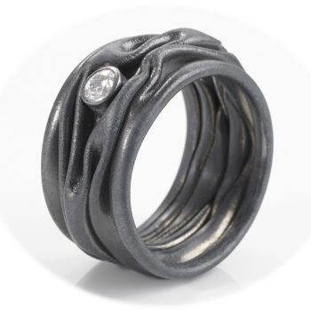 Tantal Ring mit Brillanten Damenring Romance Collection No:15