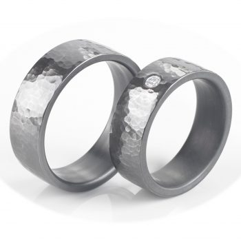Tantal Ringpaar | Hochzeitsringe aus Tantal True Love Collection No:21
