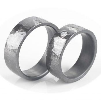 Tantal Ringpaar | Hochzeitsringe aus Tantal True Love Collection No:21