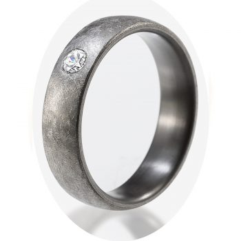 Tantalring Damenring | Brilliantring aus Tantal Romance Collection No:7
