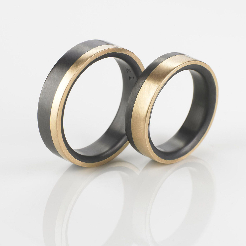 Tantal Eheringe | Hochzeitsringe | Ringpaar True Love Collection No:33