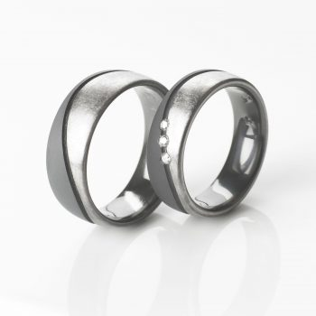 Tantal Eheringe | Hochzeitsringe | Ringpaar True Love Collection No:35