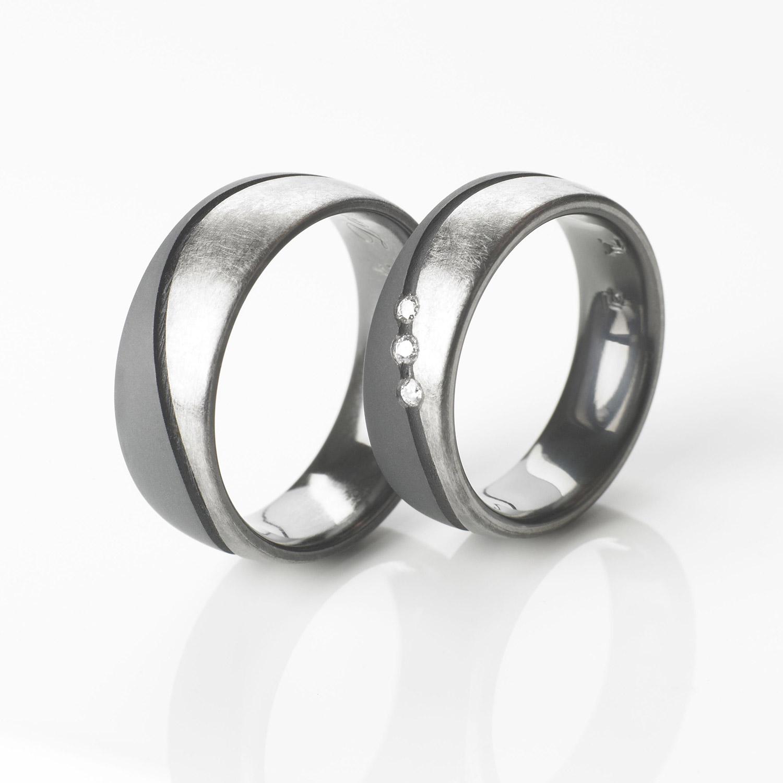 Tantal Eheringe | Hochzeitsringe | Ringpaar True Love Collection No:35