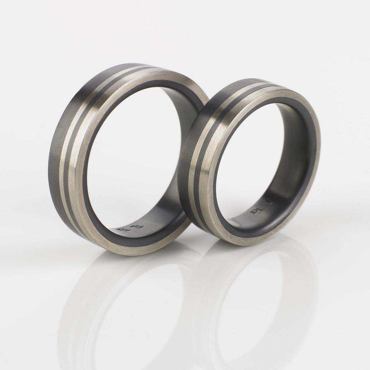 Tantal Hochzeitsring | Eheringe | Ringpaar True Love Collection No:31