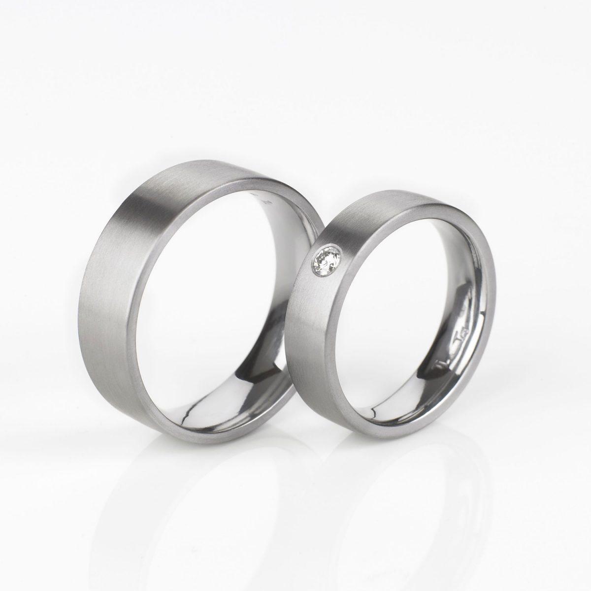 Tantal Hochzeitsringe | Eheringe | Ringpaar True Love Collection No:30