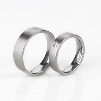 Tantal Hochzeitsringe | Eheringe | Ringpaar True Love Collection No:30