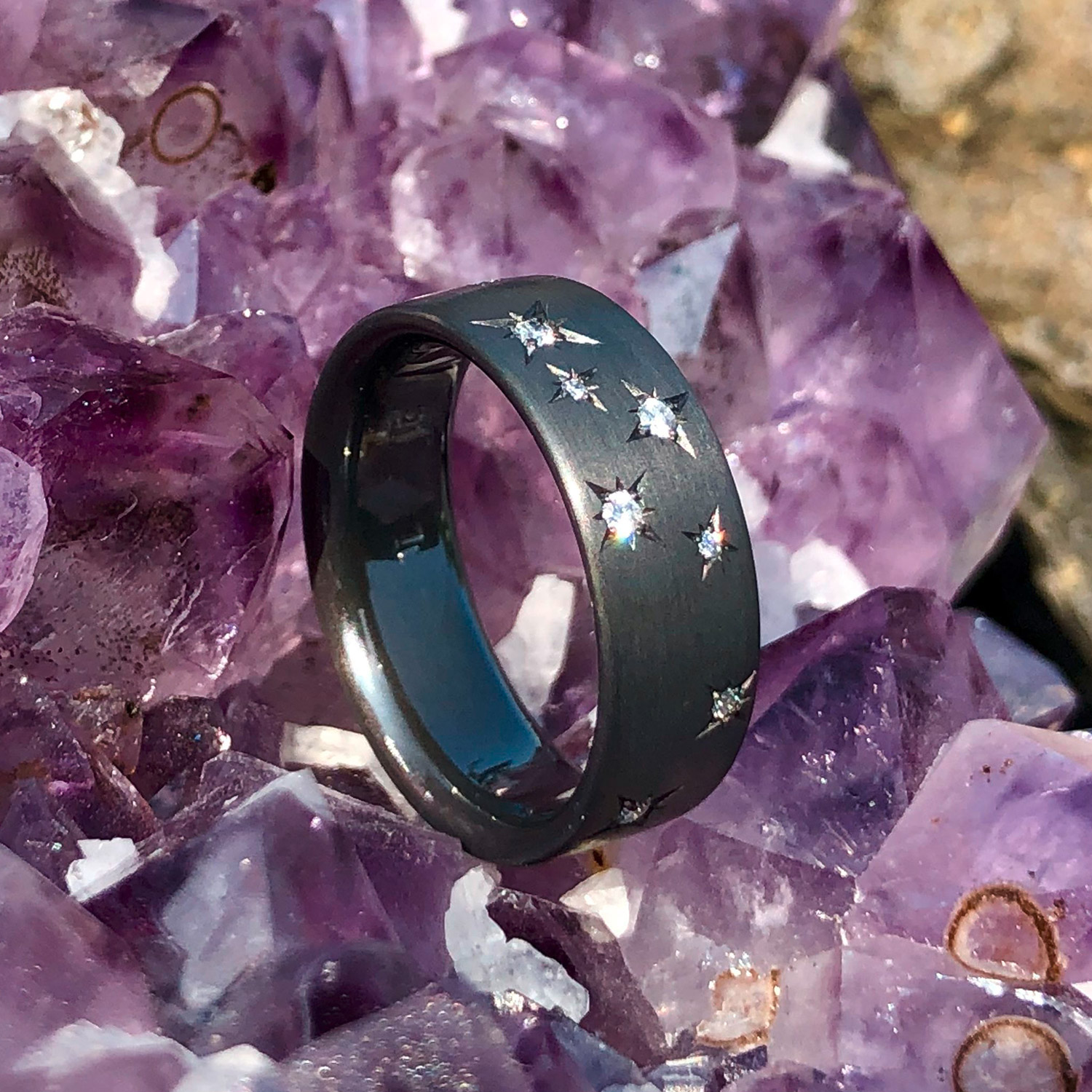 Tantal Ring | Schwarzer Ring aus Tantal | Star Collection No:1