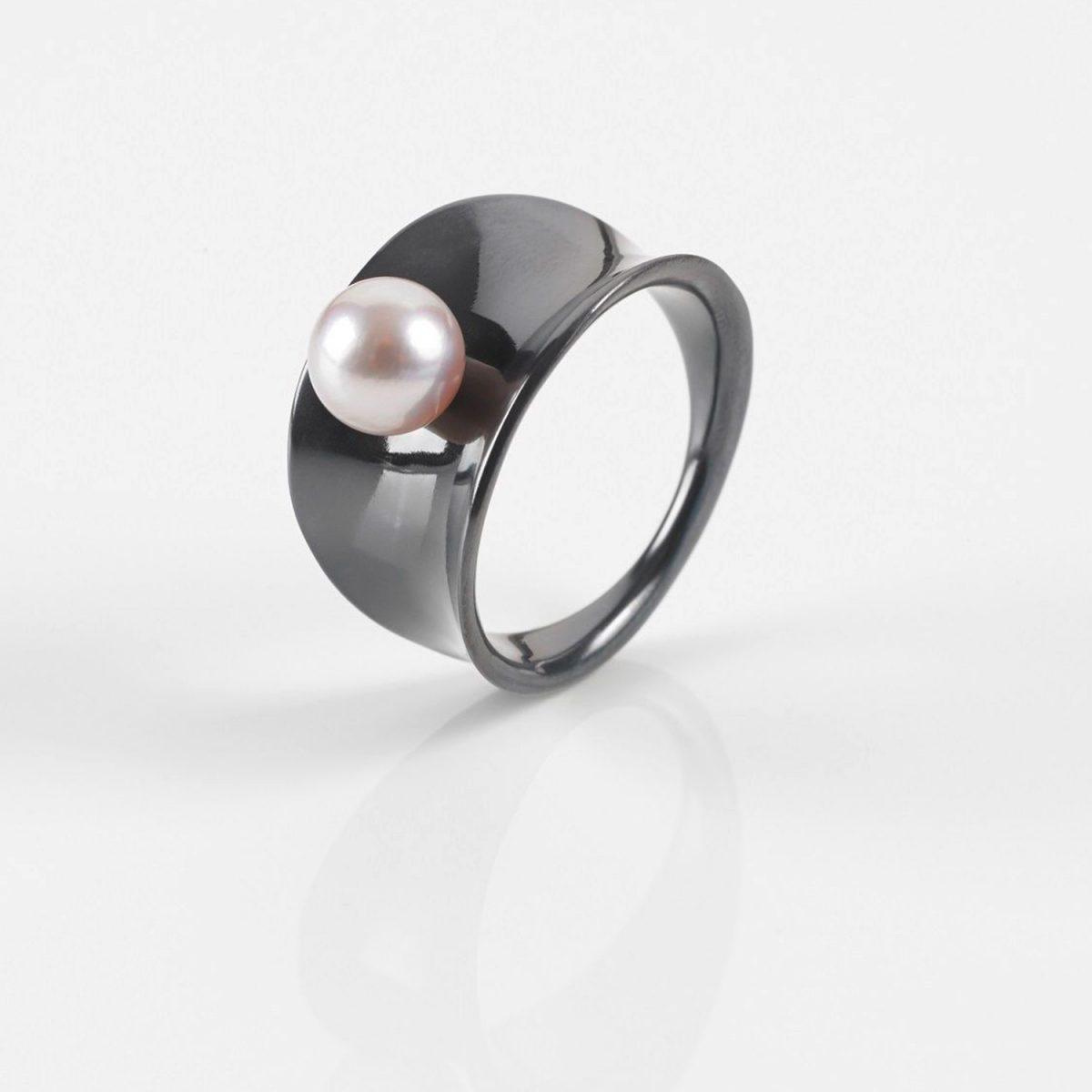 Tantalring | Damen-Ring mit Perle | Ladies Collection No:08