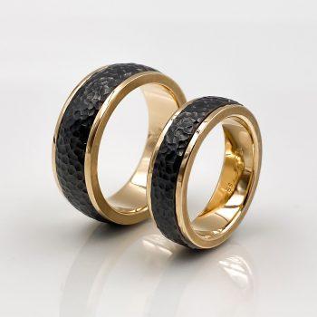 Tantal Eheringe | Hochzeitsringe | Rosegold Ringpaar True Love Collection No:39