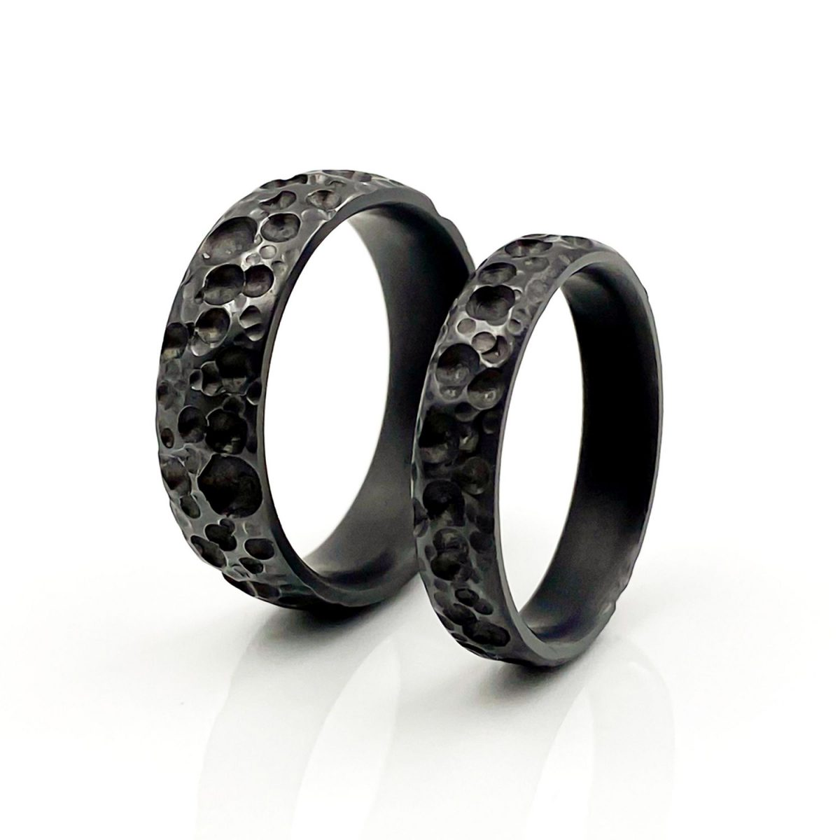 Tantal Eheringe Ringpaar True Love Collection No40 dark side of the moon