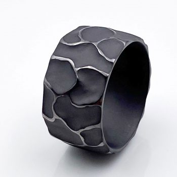 Tantal Ring Scarface Herrenrring massiv mens collection no14