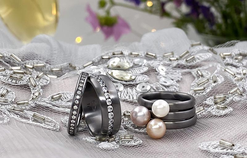 Tantal Ringe - Ringe aus Tantal - Paarringe - Hochzeitsringe - True Love Collection