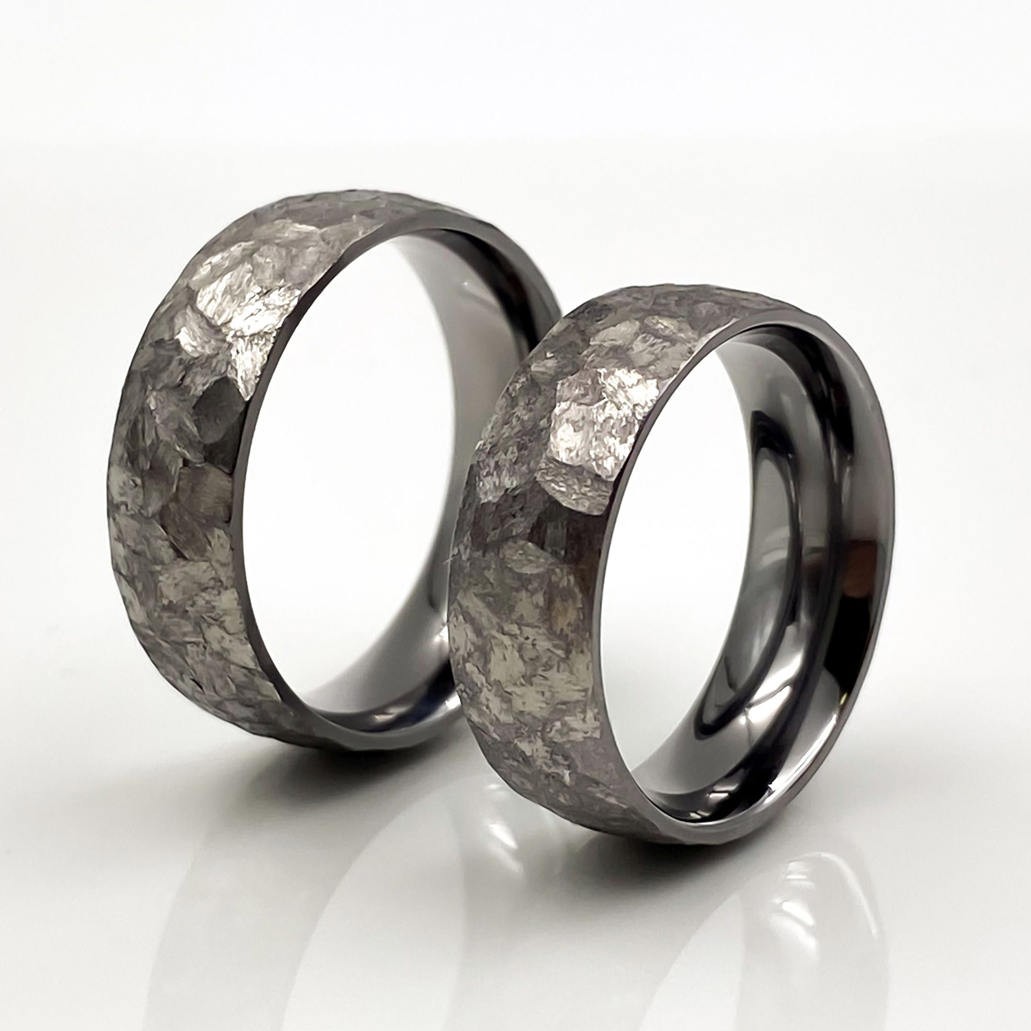 Hochzeitsringe aus Tantal | Ringpaar True Love Collection No:45