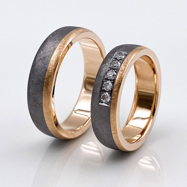 Hochzeitsringe aus Tantal | Rosegold True Love Collection No:47