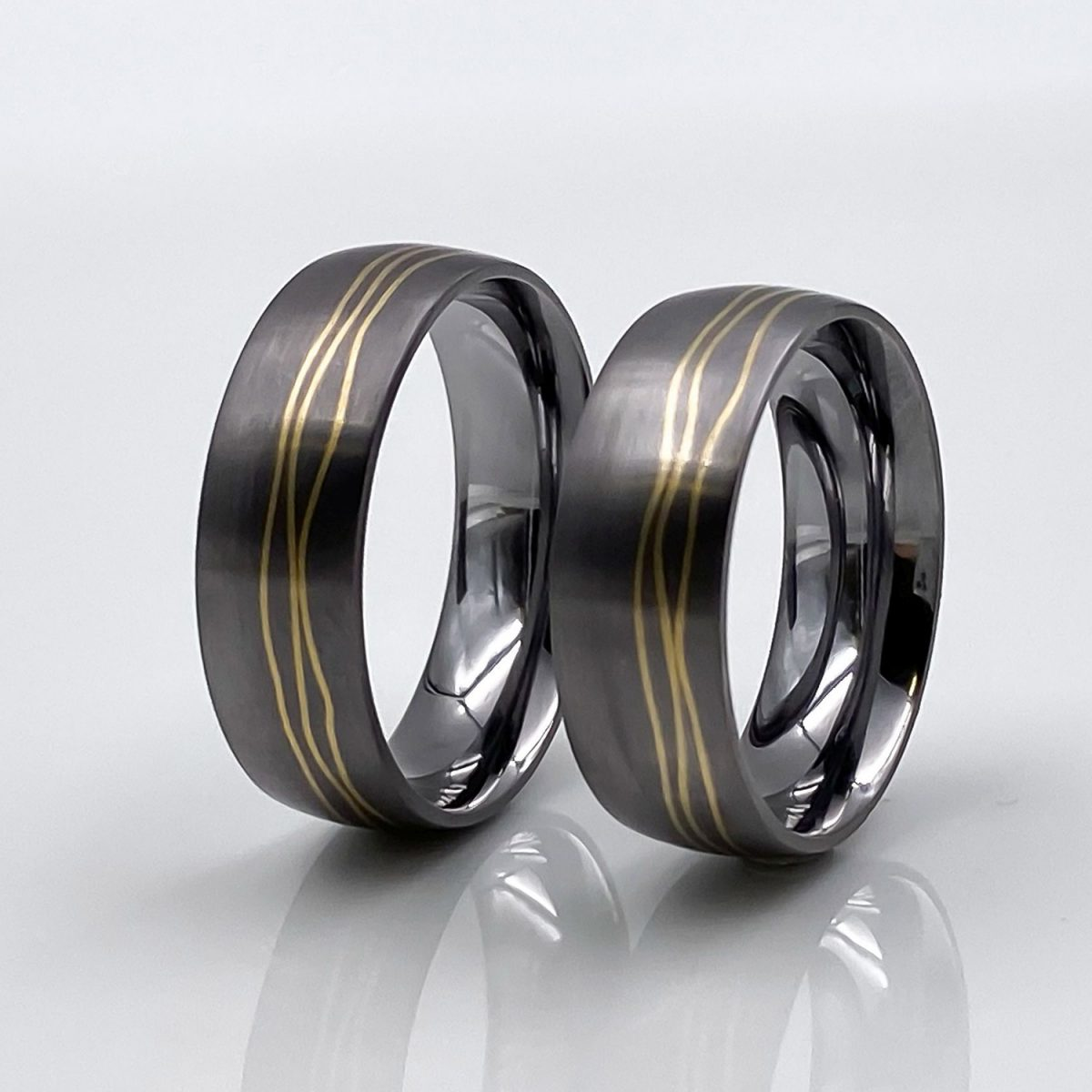 Tantal Hochzeitsring | Ringpaar True Love Collection No:44