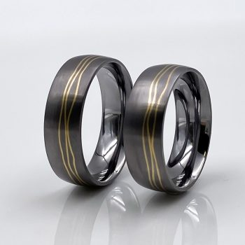 Tantal Hochzeitsring | Ringpaar True Love Collection No:44