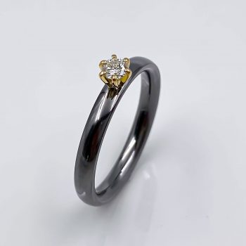 tantal ring gelbgold romance collection no21