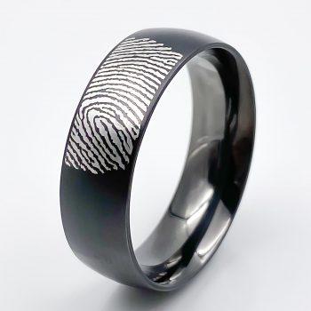 Tantal- Ring-matt-poliert-Fingerabdruck-Feinsilber-Heavy-Metal-Collection-No-12