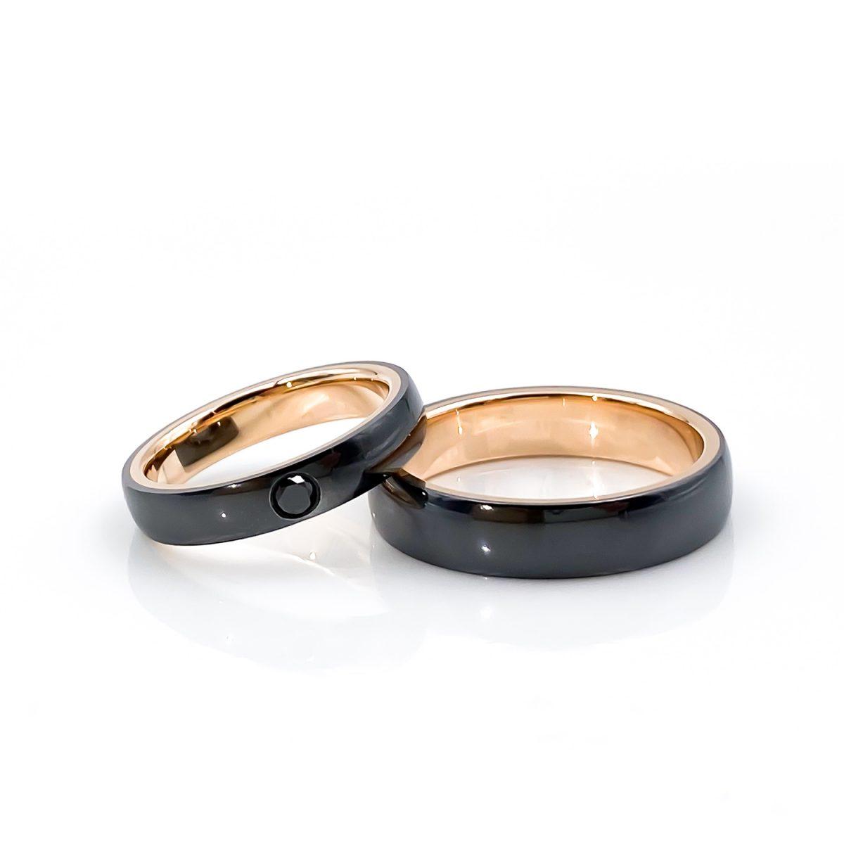 Tantal Eheringe Ringpaar aus Tantal True Love Collection No.51