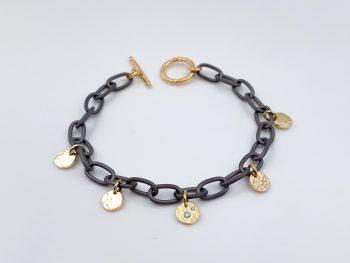 Tantal Armkette mit Charms aus Gold Ladies Collection No.28
