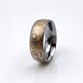 Tantal-Ring in Mokume Gane Style Heavy Metal Collection No.14