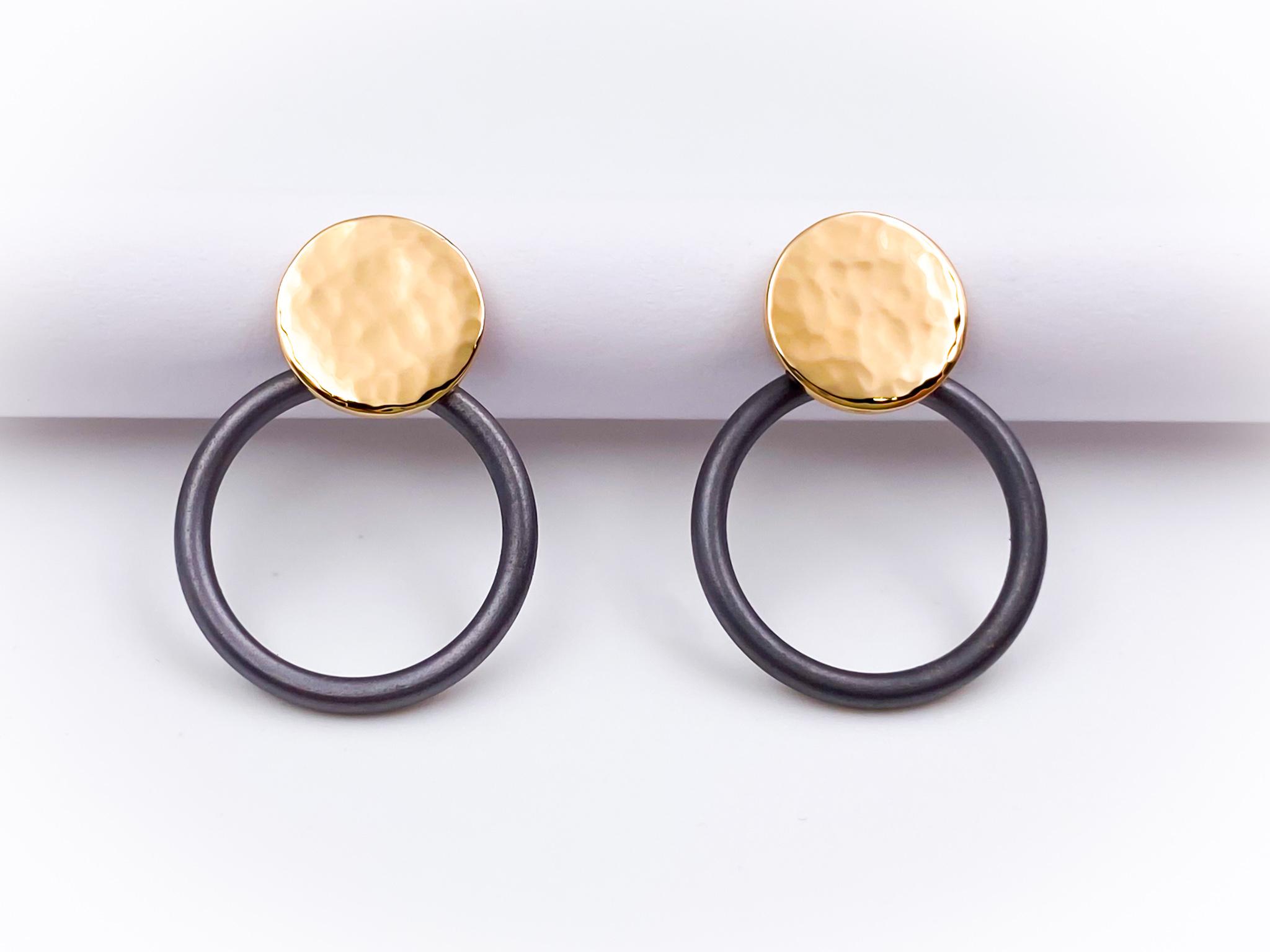 Tantal-Ohrringe mit 585er Roségold Ladies Collection No.30